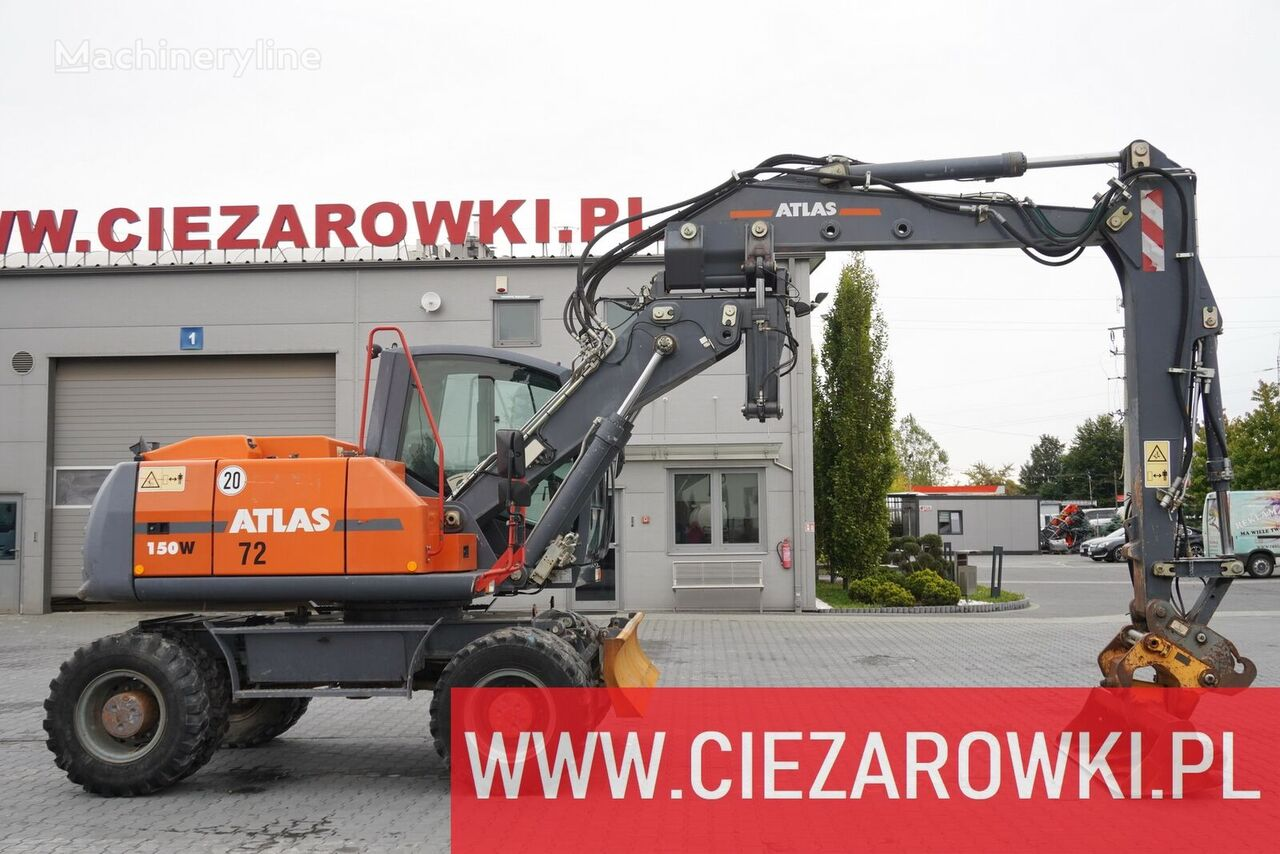 колесный экскаватор ATLAS W 150 , 16 t , tiling arm , scarp hydraulic  bucket , blade , jo