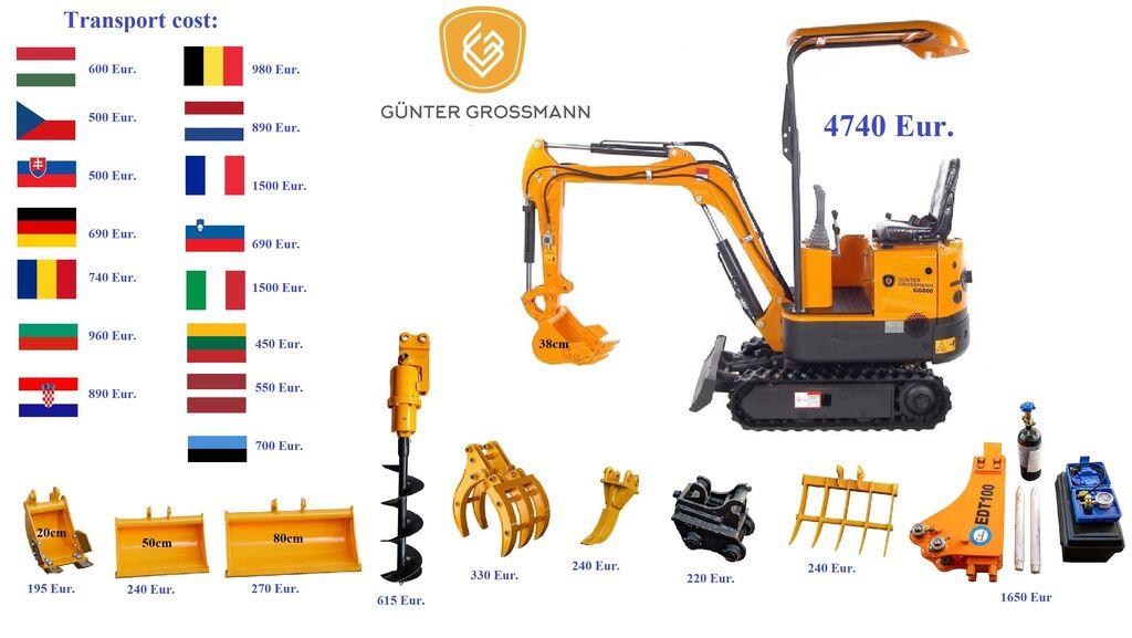 новый мини-экскаватор Günter Grossmann www.gg800.eu GG800 Minikoparka